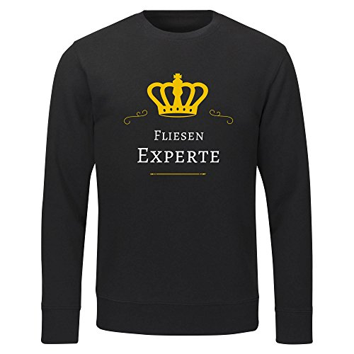Multifanshop sweatshirt tegels expert zwart heren maat S tot 2XL