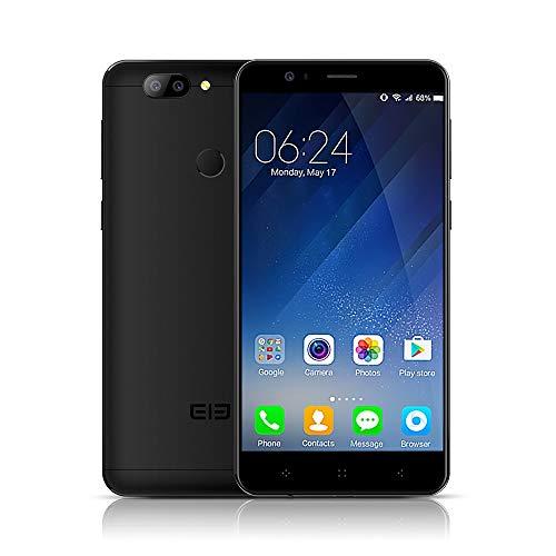 """Elephone P8 mini スマートフォン 4G携帯電話 4GB RAM+64GB ROM 16MPフロントカメラ 13+2MPバックデュアルカメラ MTK6750T 64ビット1.5GHzオクタコア 5.0""""  1080Pスクリーン Android 7.0 指紋認識 KKmoonスタンドつき 国内用充電器つき"""