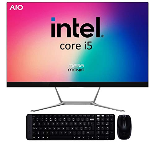 Ordenador All In One Megamania PC AIO Intel Core i5 up to 4.1Ghz x 6 Cores   NVME 512GB   16GB DDR4   WiFi  Teclado y ratón inalambrico