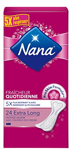 Nana - Set de 24 protege-slips Extra largo de absorción normal - Lote de...