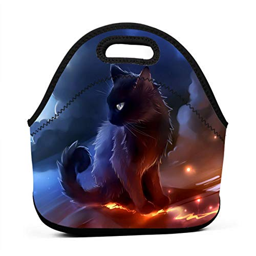 Lunch Bag Cat Lunch Box Tote Container Bag Insulated Neoprene for Women Thermal Outdoor Work Office Picnic School