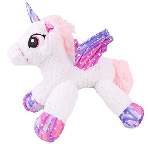Toyland® 45 cm roze Pegasus eenhoorn-knuffel met Galaxy-vleugels - Snuggle Pals