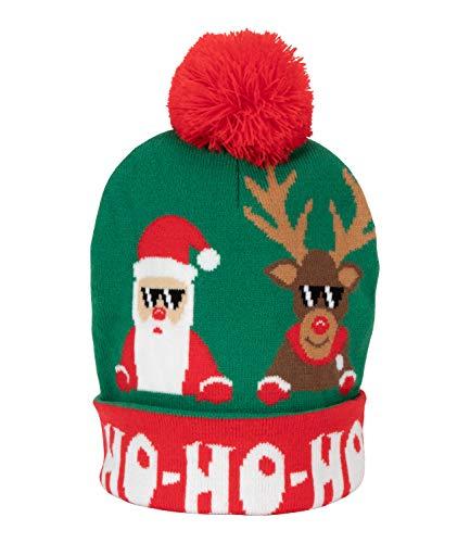 YSTRDY Gorro de invierno con pompón de Papá Noel hipster (530-048)