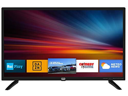 Trevi LTV 3209 SMART Televisore TV Smart TV 32  HD con Decoder Digitale DVBT-T2 H.265 10 bit e Satellitare DVBS-S2 Free to Air, Sistema Operativo Android, USB, HDMI, Audio Video, VGA, Audio Coassiale