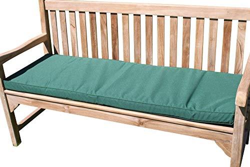 Garden Market Place Gartenmöbel-Kissen für 3-Sitzer-Gartenbank, Grün, 95 X 45 X 35