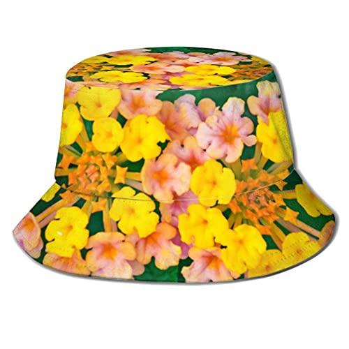 Gorro de sol con diseño de Lantana y flores Lantana Camara L Bucket Sun Hat para hombres y mujeres Protección Packable Summer Fisherman Cap para pesca, safari, playa y paseos en barco A1