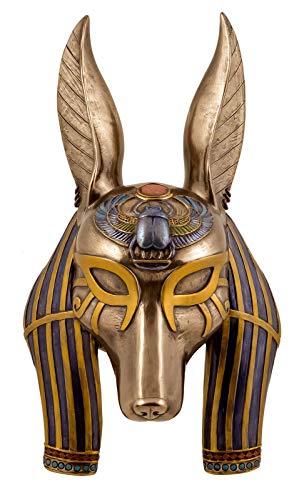 Veronese Maske ägyptischer Gott Anubis 29 cm Wanddekoration Ägypten Pharao Figur bronziert
