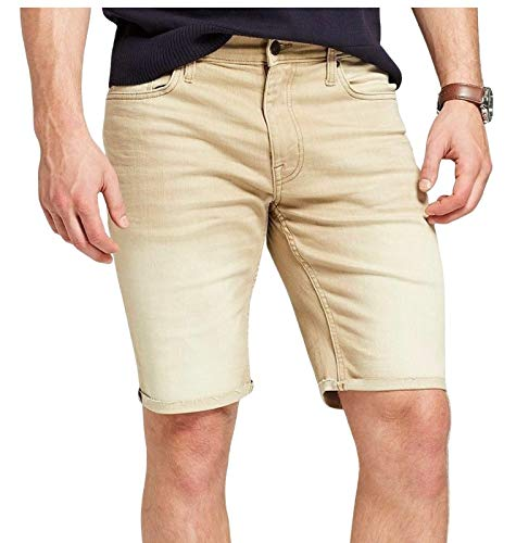 Goodfellow & Co Men's 10.5 inch Inseam Slim Fit Denim Shorts, 38 Tan Jeans