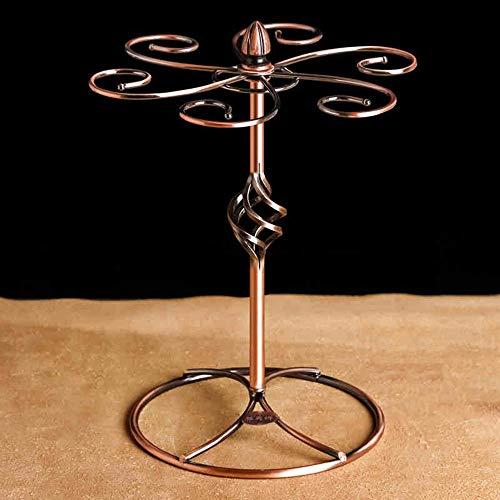 BinLZ Racks para Vinos Portavasos de Vino Hierro Bronce Hecho a Mano Duradero Salón Bar Gabinete para Vinos para Satisfacer Cualquier Espacio (Estilo: D)