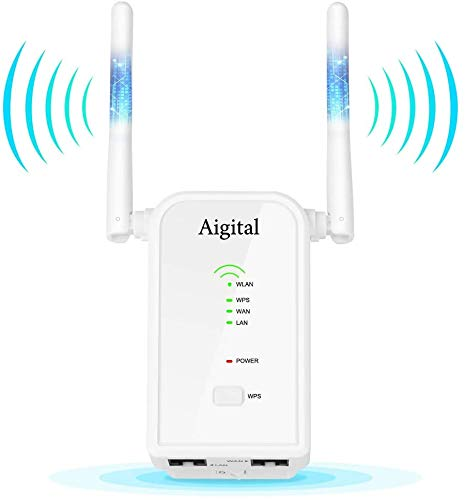 Ripetitore WiFi Repeater Range Extender Universale, Wifi Router Long Range modalità Repeater/Router/Access Point, amplificatore segnale wi-fi, 2 Antenne Esterne,Porta LAN/WAN Ethernet,WPS,300Mbps