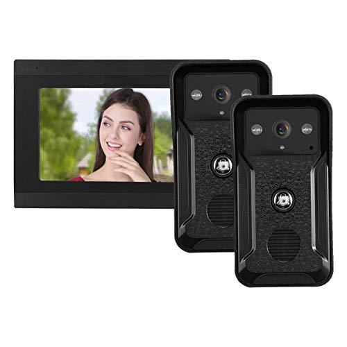 Videoportero, videoportero con cámara, Villas con Sistema WiFi de 7 Pulgadas para Sistema de Seguridad en el hogar(European regulations)