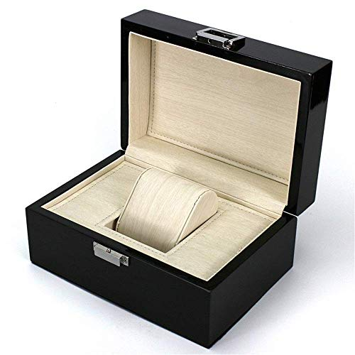 ZHENAO Watch Organizer Box Wooden Watch Box High-End Jewelry Jewelry Box Varnish Jewelry Display Storage Case Noble/Black/Small