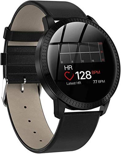 Reloj inteligente para hombres y mujeres con monitor de ritmo cardíaco, monitor de presión arterial IP68, impermeable