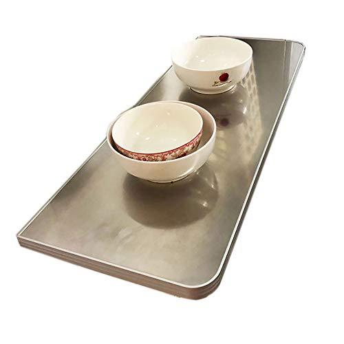 YZJJ Mesa de Cocina Plegable de Pared de Comedor Escritorio, para Ordenador Mesa Plegable De Pared De Maciza Mesa Portatil con Soporte Doble Pared De Cocina Multifuncional Rack