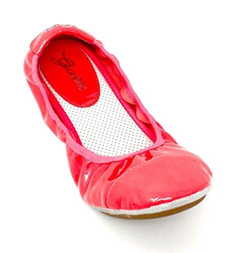 Guess Bayla Ballettpumpen Ballerina-Flats, Pink - Korallenrot - Größe: 38 EU