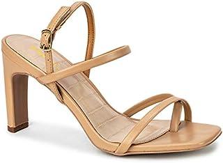 Qupid Kaylee Heels for Women - Sand Faux Leather Sling Back Sandals - 8