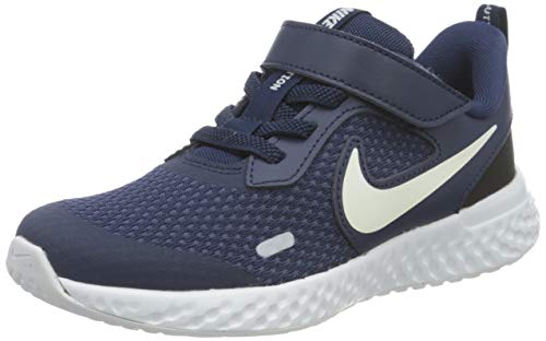 Nike Revolution 5 (PSV), Zapatillas para Correr, Midnight Navy...