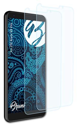 Bruni Schutzfolie kompatibel mit ZTE Blade V9 Vita Folie, glasklare Bildschirmschutzfolie (2X)