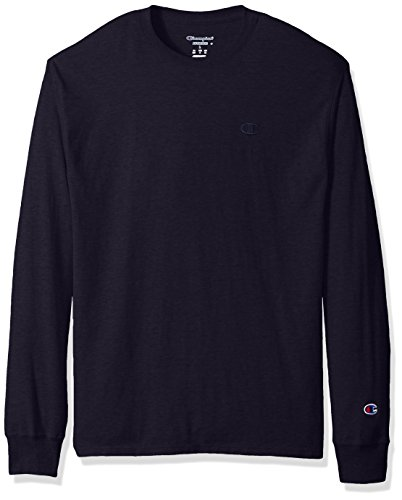 Champion Men's Classic Jersey Long Sleeve T-Shirt, Navy, L