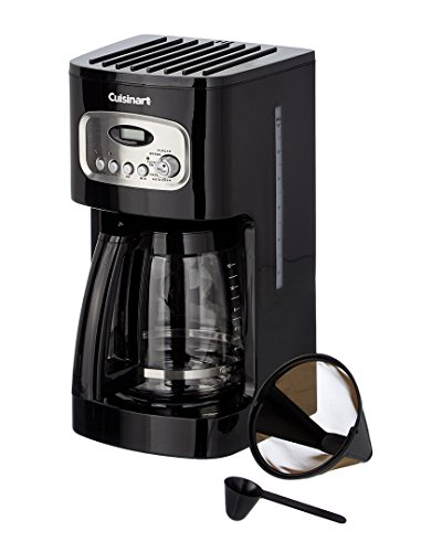 Cuisinart Programmable Coffeemaker Digital, Filter Brew 12 Cup Black Charcoal Water Filter