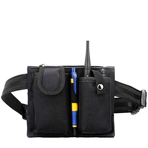 QEES Hüfttasche passend für Resterant und Hotel Kellner Multifunktionstasche schwarz