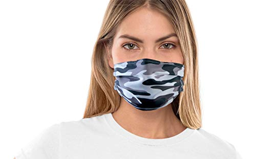 Maske mit Tarnmuster bis zu 90 Grad waschbar und wiederverwendbar - Baumwollmasken Militär Camo Motiv (Camouflage)