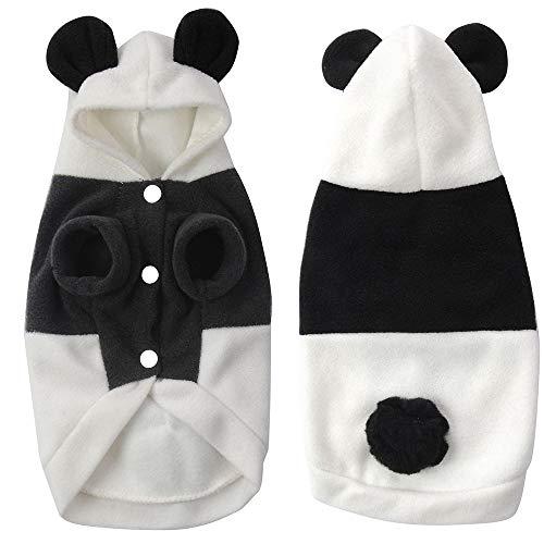 maxgoods Costume da Panda Dell'Animale Domestico, Divertente Vestito Sveglio dei Vestiti del Gatto, Cane per Festa di Natale o Halloween Uniforme da Completo per Vestire i Jeans, XS