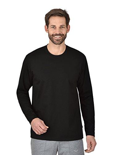 Trigema Herren 636501 Langarmshirt, Schwarz, XL EU