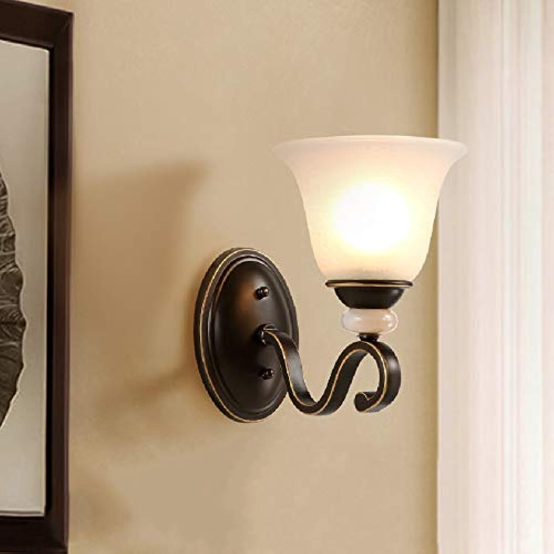 Tritow Amerikanische einfache Wandleuchte Schlafzimmer Nachttischlampe Wohnzimmer Hintergrund Wand Licht Raum Gang Lichter Retro Eisen Kunst 1-Lights Wandleuchte