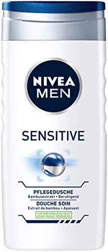NIVEA MEN Duschgel, beruhigende Pflegedusche mit Bambusextrakt, feuchtigkeitsspendendes Duschgel für empfindliche Haut, im 1er Pack (1 x 250 ml)