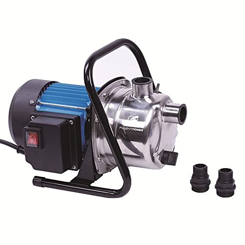 """FLUENTPOWER 1 HP Portable Stainless Steel Lawn Sprinkling Pump, Electric Water Pump Shallow Well Sump Booster Pump with 1"""" NPT Female Thread for Home Garden Lawn Irrigation"""