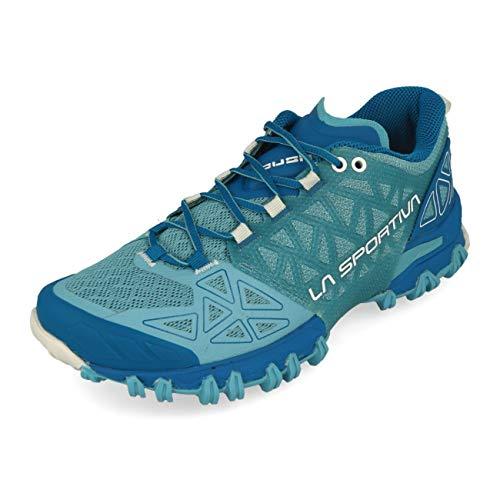 LA SPORTIVA Bushido II Woman, Zapatillas de Trail Running Mujer, Pacific Blue/Neptune, 40 EU