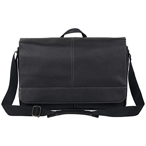 "Modern Mobility, Thoughtful Design: The ""come bag soon"" Men's leather anti-theft RFID laptop messenger bag from Kenneth Cole is designed with innovative features and high-end materials so you can carry your office essentials comfortably and stylishly..."