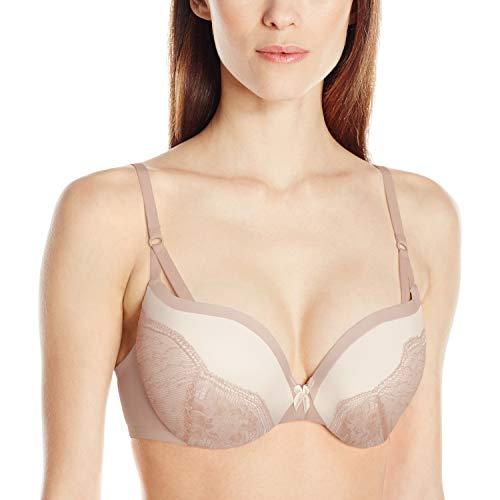 Maidenform Women's Love the Lift Push-Up Bra, Evening Blush/Cream Strappy Lace, 38C