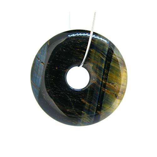 Mineral Import - Colgante Donut Grande de Ojo de Halcón - 3449VC
