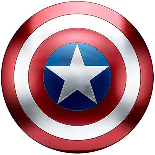 Escudo Capitan America Metal 1: 1 Adulto Apoyos de Película Niños Hierro Forjado CapitáN AméRica Shield Vengadores Capitán América Disfraz de Metal Shield C,47CM