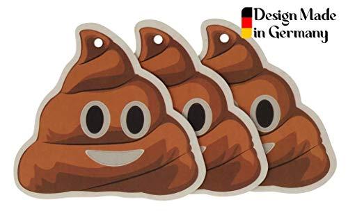 Haufi® Duftbaum Kackhaufen Lufterfrischer, ca. 8 x 9 cm, 3 Stück