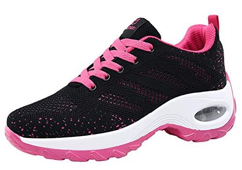 Santimon Femme Chaussures de Sport Antidérapant Respirantes Léger Confortable Coussin d'air Décontracté Chaussures de Course Magenta 37.5 EU