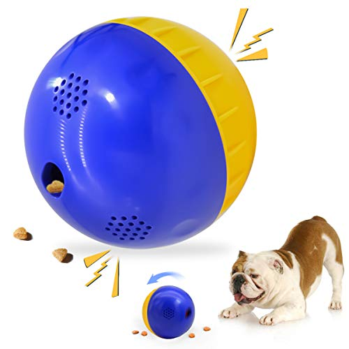 4.7' Dog Treat Ball Interactive Dog Toys IQ Giggle Mentally Stimulating Dog Toys Squeaky, Wobble Giggle Ball Dog Toy for All Dogs Capacity 200ML