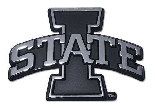 Elektroplate Iowa State University Cyclones I State Logo Chrome Plated Premium Metal NCAA College Car Truck Motorcycle Emblem