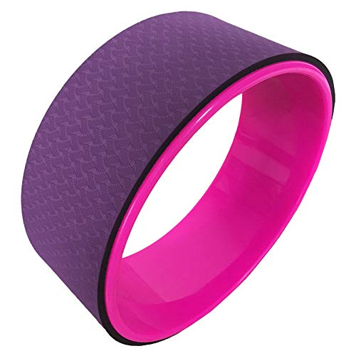 YMYGCC Ring Pilates Yoga Pilates Circle Yoga Rueda del Dharma Yoga Pose Rueda 12.5x5in Yoga Anillo del aro Fuerte Roller Torna Barella Balance Accesorios (Color : Purple)