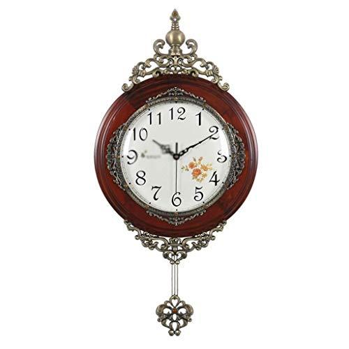 HEKRW Péndulo a Pilas del Reloj de péndulo-silencioso, Diseño Regulador de Madera, Reloj de Pared del péndulo for la Sala de Estar, Cocina y decoración del hogar (Color : B)