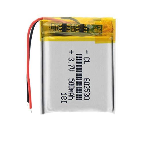 Styleart 1/2/4 Stück Lithium-Ionen-Polymer 602530 Akku 3,7 V 500 mAh Lithium-Akku Für MP4 MP5 GPS PSP Smart Watch Driving Recorder 1piece