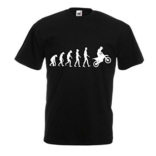 lepni.me Camisetas Hombre Evolución del Motocross Equipo de Moto Ropa de Carreras Todoterreno (XX-Large Negro Blanco)