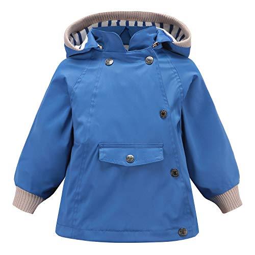 Echinodon Kinder Outdoorjacke Wasserabweisend Winddicht Jacke Mädchen Jungen Funktionsjacke Wanderjacke Regenjacke Blau 100
