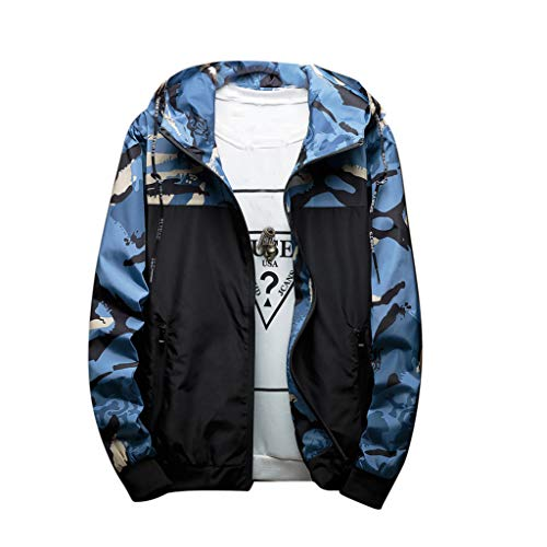 Men Autumn Winter Fashion Camouflage Hoodie Outdoor Windproof Sports Jacket Coat by LuckyGirls