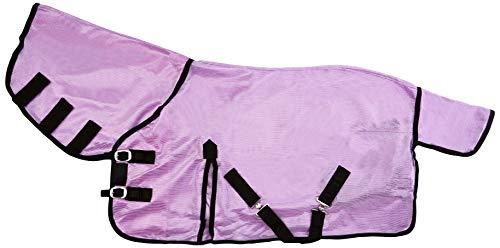 Nueva Alfombra Mini/Shetland/Pony Fly Cuello DE Malla Suave Cuello Cubierta Morado/LILLAC 3'6-4'9
