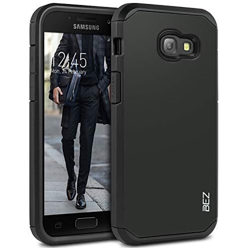 BEZ Hülle für Samsung Galaxy A3 2017 Hülle, Handyhülle Kompatibel für Samsung A3 2017, [Heavy Duty Serie] Stoßfestes Outdoor Dual Layer Armor Case Handy Schutzhülle [Shockproof] robuste - Schwarz