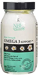 This Omega 3 supplement contains good levels levels of EPA and DHA (770mg of EPA and 510mg of DHA) in just two capsules Only small fish like anchovies and sardines used no large fish like tuna which can carry high levels of heavy metals like mercury ...