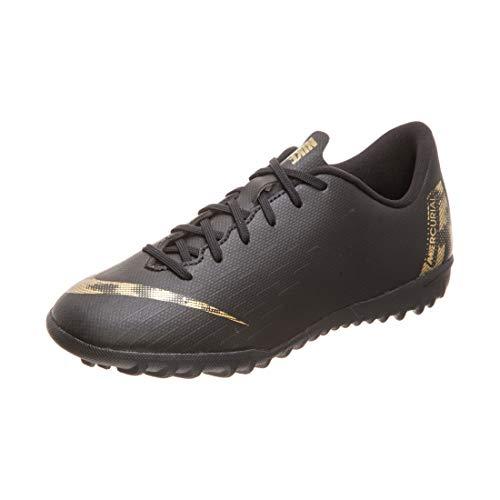 Nike Performance Mercurial VaporX XII Academy TF Fußballschuh Kinder schwarz/Gold, 5Y US - 37.5 EU - 4.5 UK